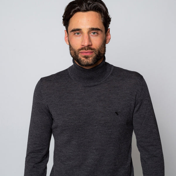 UNION GREY TURTLENECK | MENSTWEEDSUITS.COM