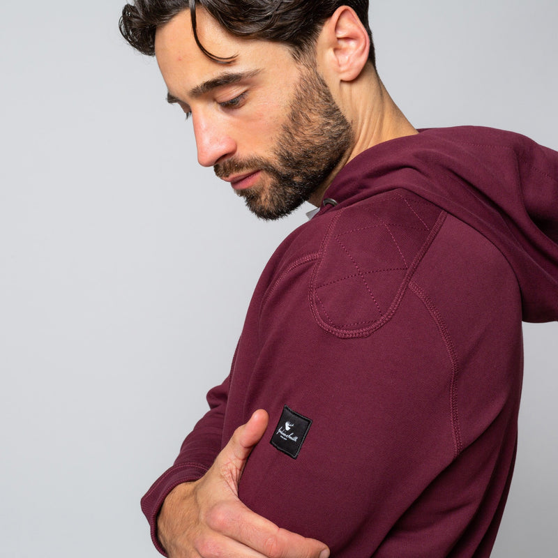Mens Maroon Hoodie Handmade comfortable Cotton Polyester | Goodwinsmith