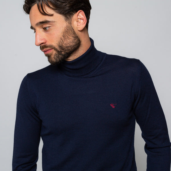 UNION NAVY TURTLENECK | MENSTWEEDSUIT.COM