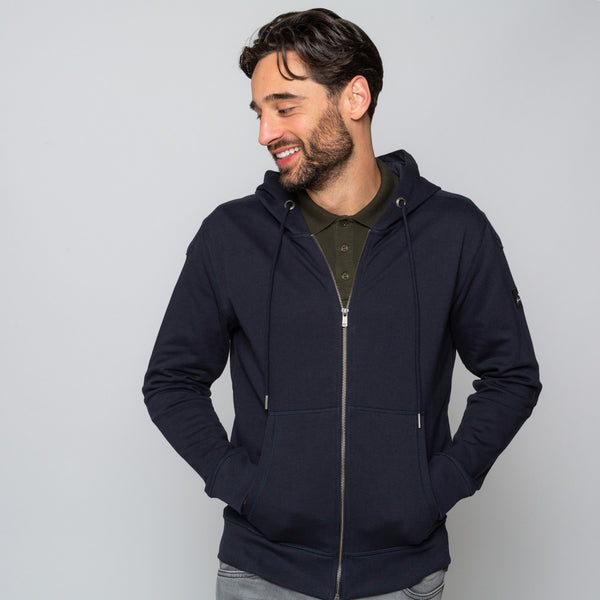 Mens Navy Hoodie Handmade comfortable Cotton Polyester | Goodwinsmith