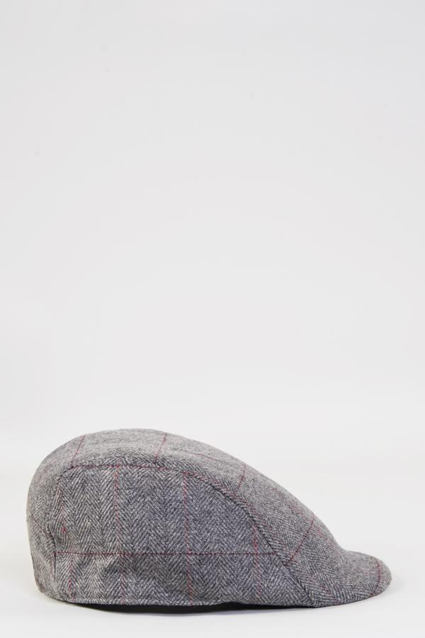 Dion Grey Tweed Flat Cap | Marc Darcy | Mens Tweed Suits
