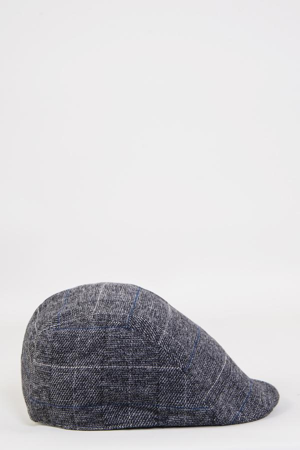 Scott Grey Check Tweed Flat Cap | Marc Darcy | Mens Tweed Suits