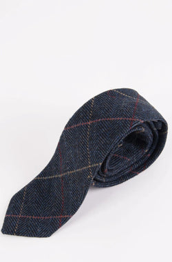 Navy Tweed Wedding Ties | Tweed Ties & Accessories | Mens Tweed Suits