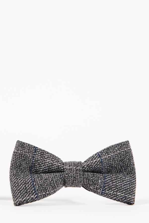 Grey Tweed Bow Ties | Wedding Bow Ties & Accessories | Mens Tweed Suits