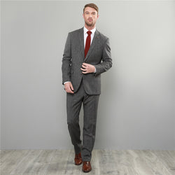 GREY CHECK SALT & PEPPER DONEGAL TWEED 3-PIECE TAILORED FIT SUIT - Mens Tweed Suits