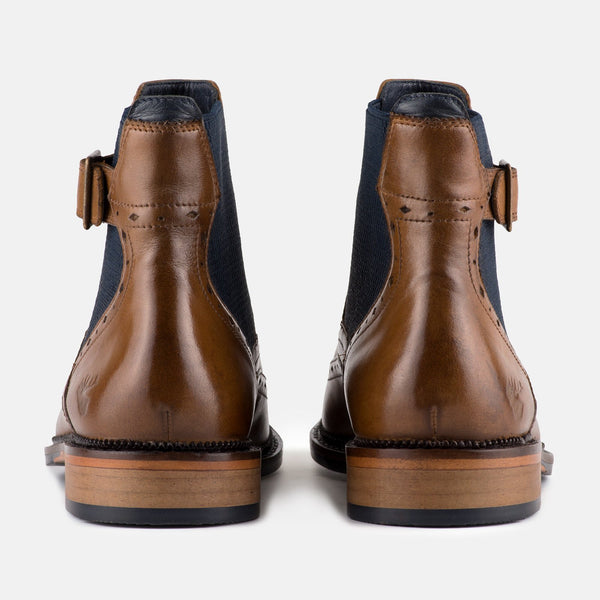TAN Smart Casual Chelsea Handmade Goodwin Smith Boot | Menstweedsuits