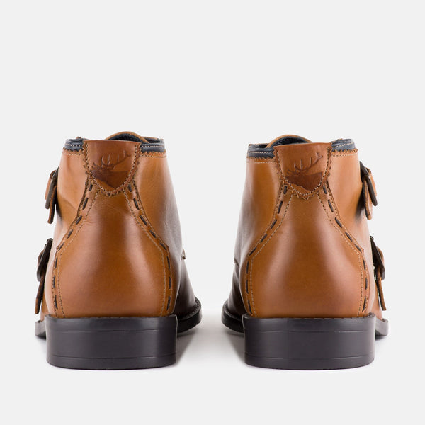 Men's Double Monk Ankle Boot | MENSTWEEDSUITS