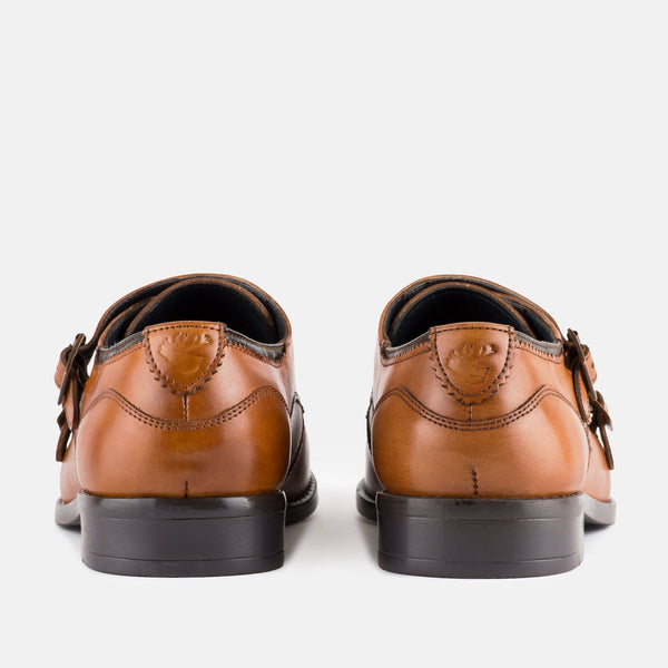 KENSINGTON TAN MONK STRAP SHOES - Mens Tweed Suits
