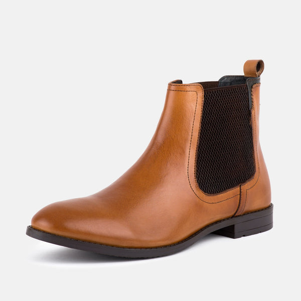 CAMDEN TAN CHELSEA BOOTS - Mens Tweed Suits