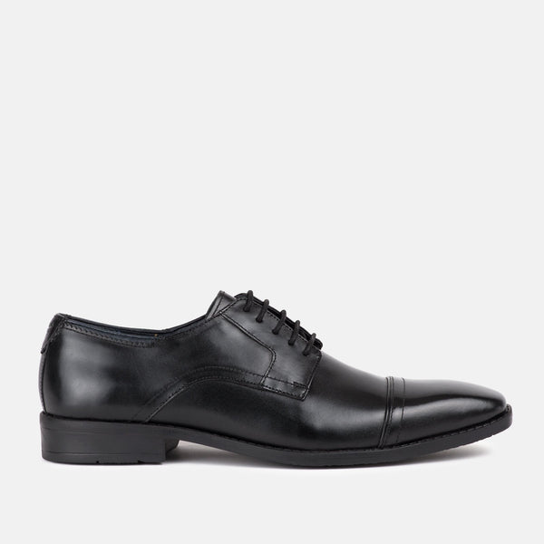 BLACK high quality italian leather Goodwin Smith shoe | Mens tweed sui