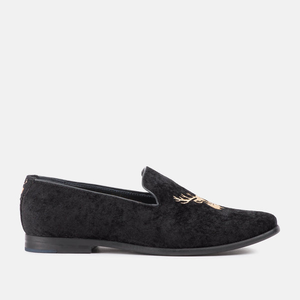 HEFF BLACK LOAFERS | MENSTWEEDSUITS.COM