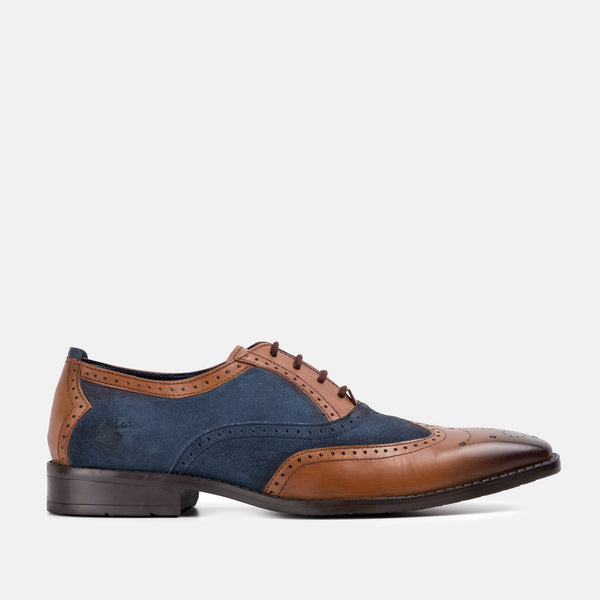 JASON TAN OXFORD BROGUE SHOE | MENSTWEEDSUITS