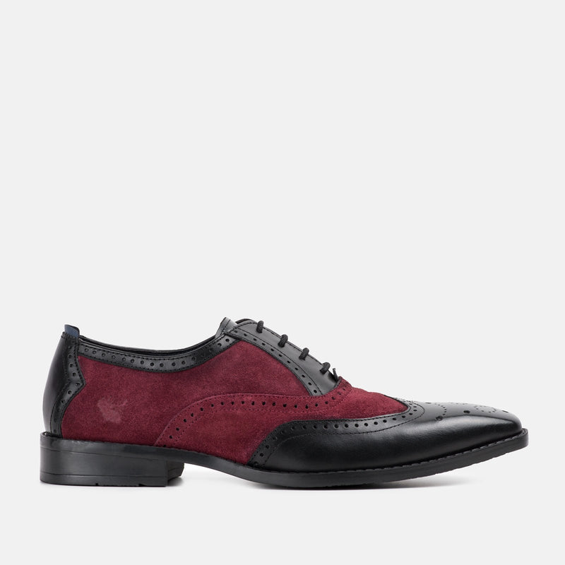 JASON BLACK OXFORD BROGUE SHOE | MENSTWEEDSUITS.COM