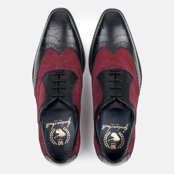JASON BLACK TWO TONE BROGUES - Mens Tweed Suits