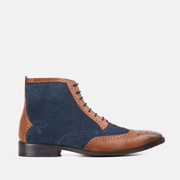SAMUEL TAN OXFORD BROGUE BOOT | MENSTWEEDSUITS.COM
