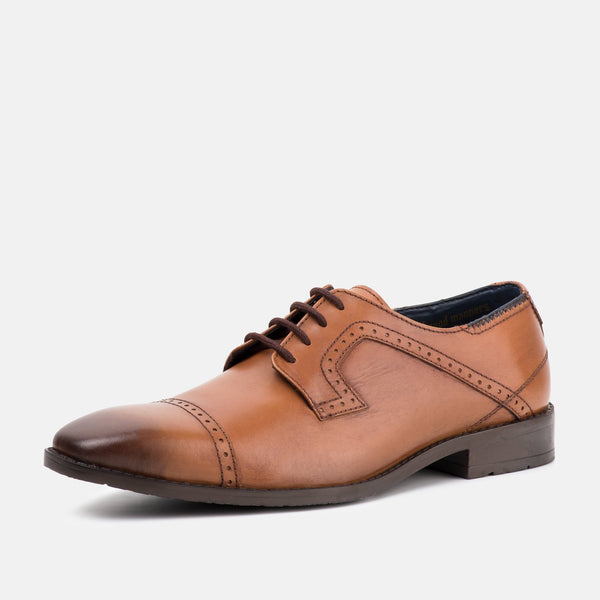 VICTOR TAN DERBY BROGUES - Mens Tweed Suits