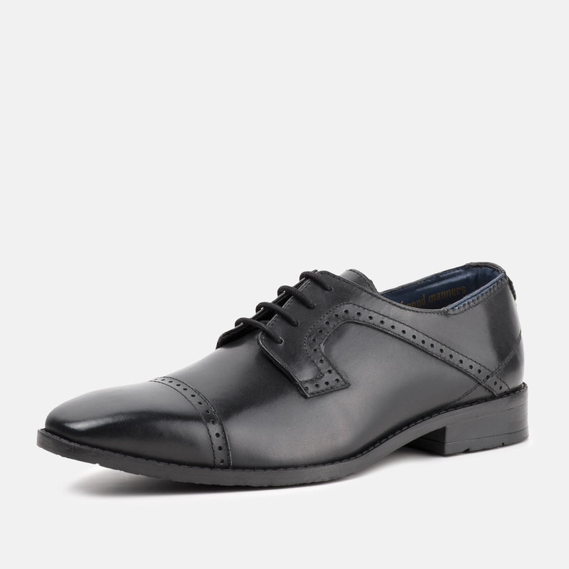 VICTOR BLACK Derby Brogue Shoe | Goodwin Smith