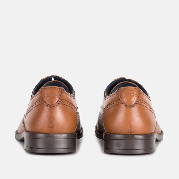 AUBYN TAN DERBY BROGUE SHOES | MENSTWEEDSUITS