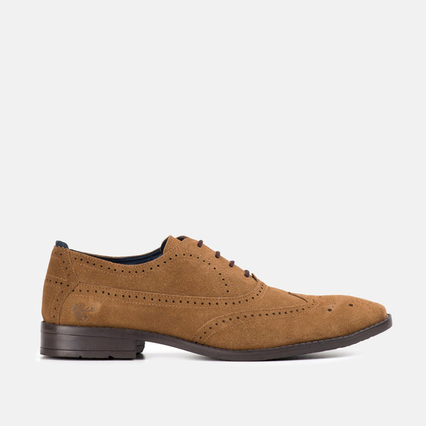 BARCLAY TAN Derby Brogue | Menstweedsyuts.com