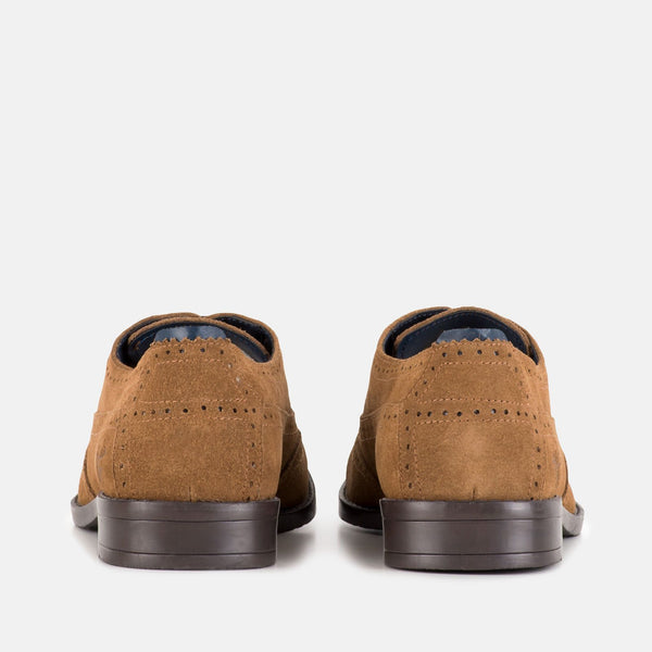BARCLAY TAN Derby Brogue | Menstweedsuits.com