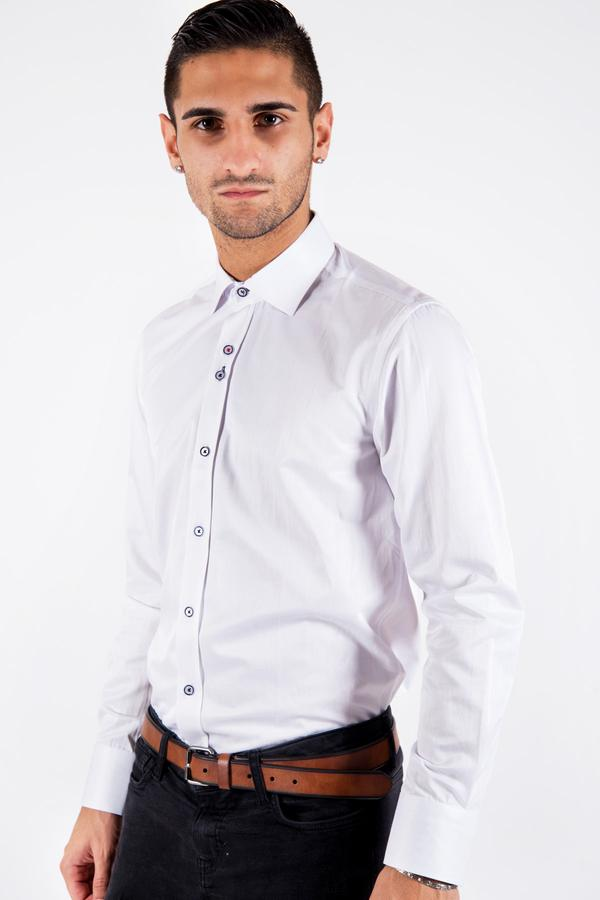 ALFIE - White Long Sleeve Shirt | Marc Darcy