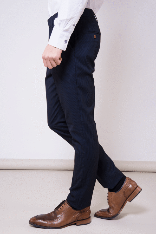 Max Navy Skinny Fit Trousers | Marc Darcy - Mens Tweed Suits