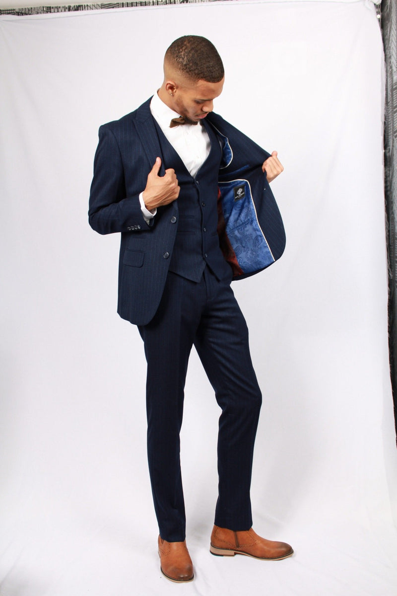 Phillip Tweed Suit | Paul Andrews | Mens Tweed Suits shop buy blue menstweedsuits.com fashion stripe