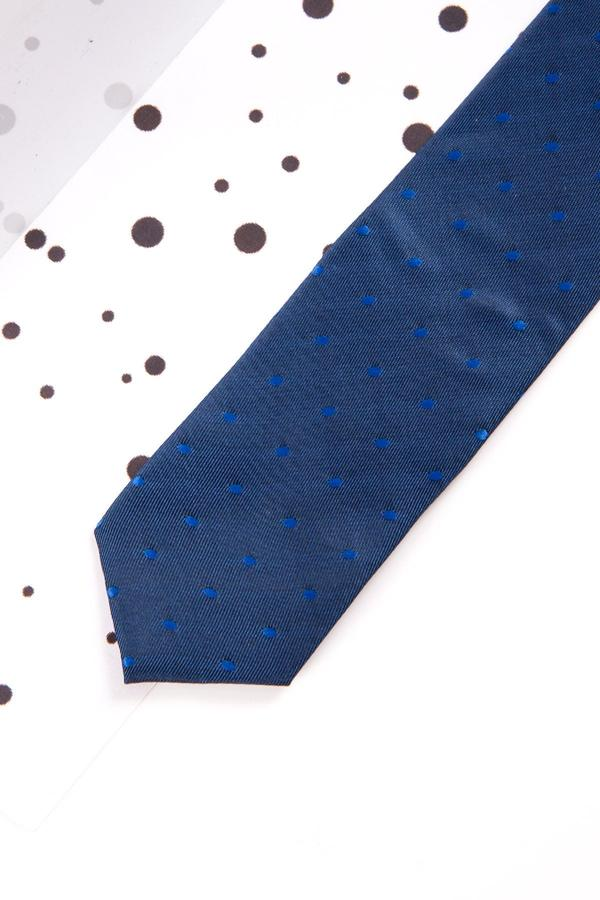 Childrens Blue Polka Dot Print Tie