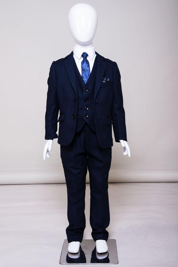Callum Childrens Blue Suit by Marc Darcy | Mens Tweed Suits