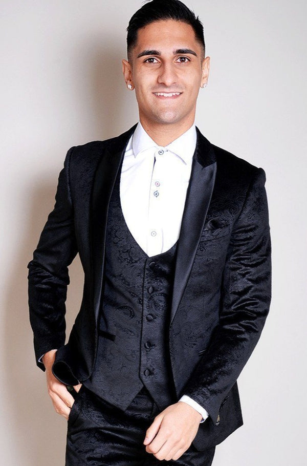 Black Velvet Wedding Suits | Mens Velvet Suits | Marc Darcy Menswear