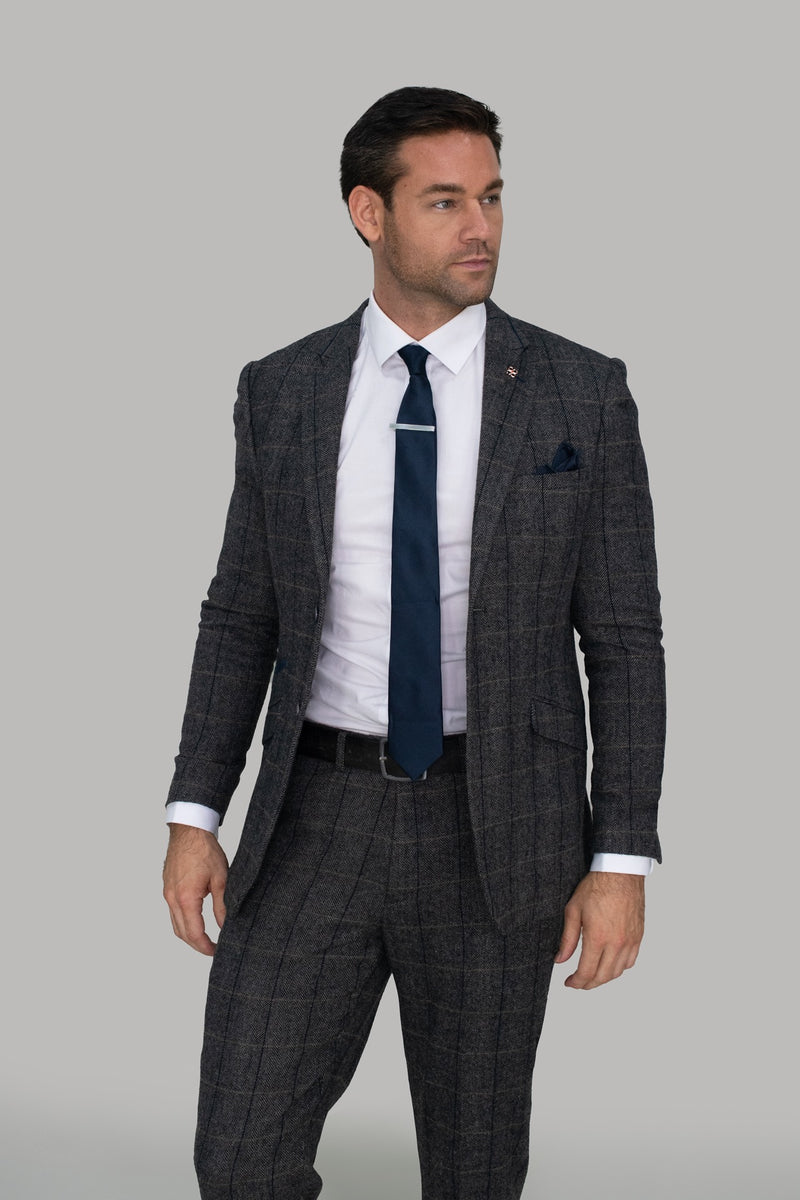 Albert Grey Tweed Check Suit