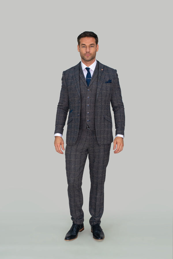 Albert Grey Tweed Check Trousers