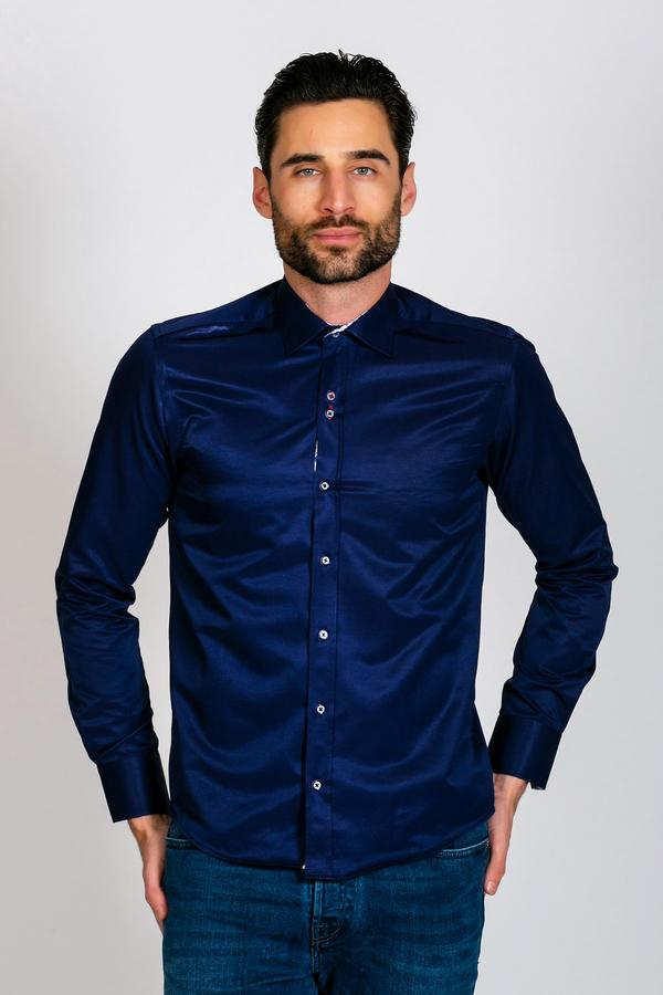 ALFIE - Navy Long Sleeve Shirt | Marc Darcy 2019 grey wedding navy