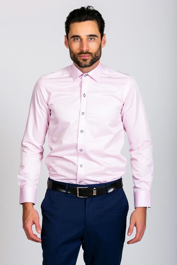 ALFIE - Pink Long Sleeve Shirt |  MARC DARCY - Mens Tweed Suits