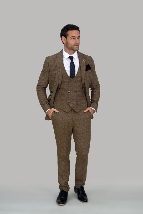 Ascari Tweed Slim Fit Trousers