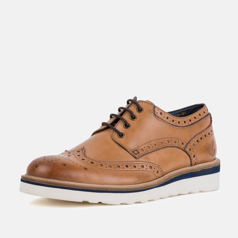 RIPLEY TAN BROGUES - Mens Tweed Suits