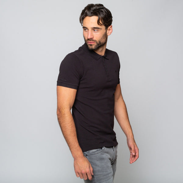 HEWITT BLACK - Mens Shortsleeve Polos | Mens Tweed Suits