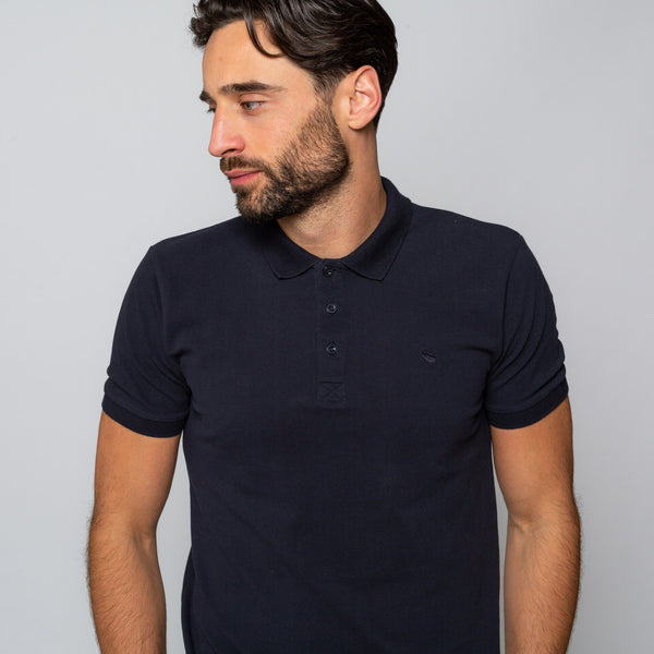 HEWITT NAVY - Mens Shortsleeve Polos | Mens Tweed Suits