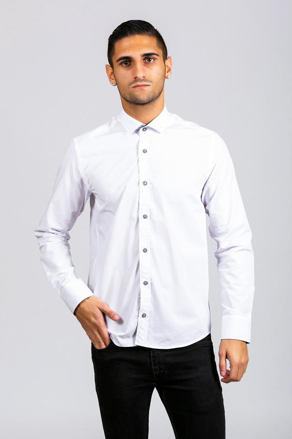 BILLY - White Contrast Long Sleeve Shirt | Marc Darcy 2019 fashion london