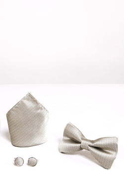 Champagne Bow Tie Sets | Wedding Bow Ties & Accessories | Mens Tweed Suits