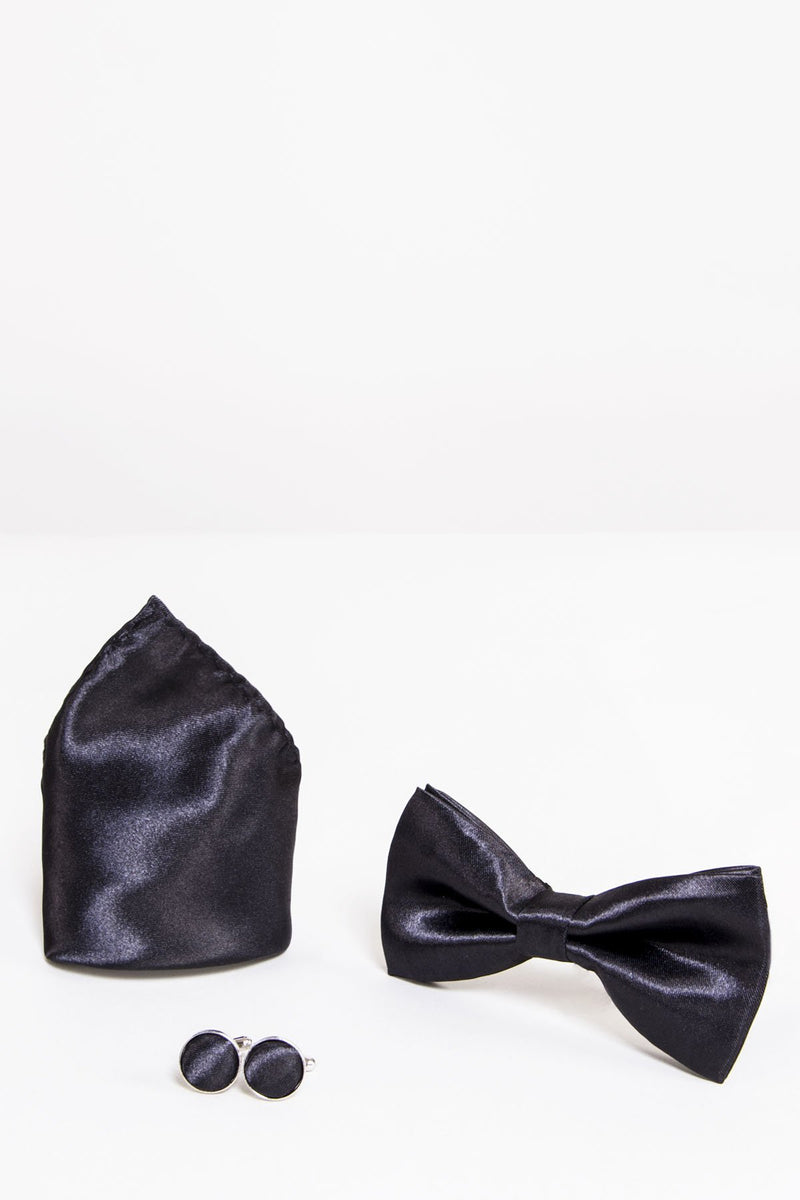 Black Satin Bow Ties | Wedding Bow Ties & Accessories | Mens Tweed Suits