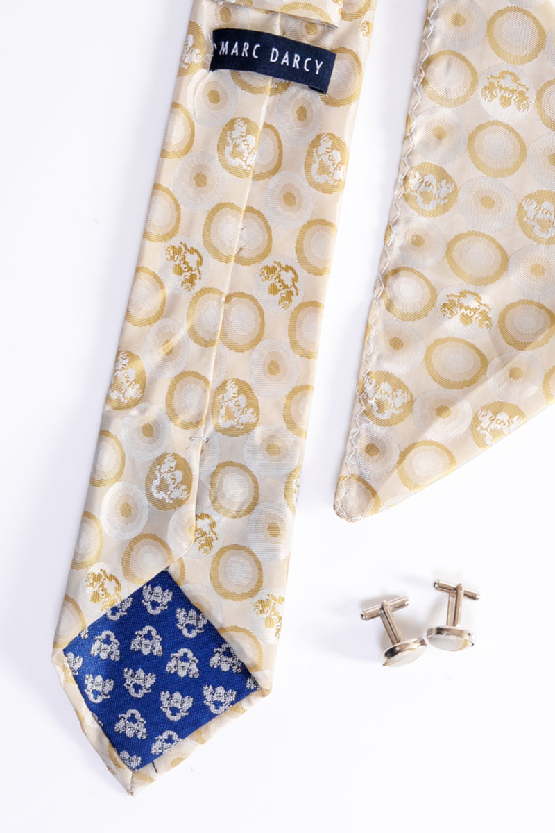 Bubble Stone Tie, Cufflink and Pocket Square