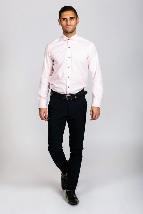 CHARLES - Pink Button Down Collar Shirt | Marc Darcy