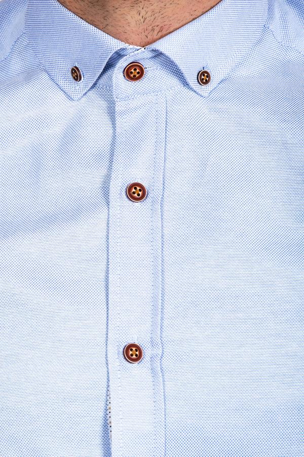 CHARLES - Sky Blue Button Down Collar Shirt | Marc Darcy
