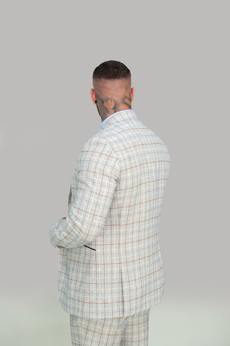 Cody Ice Check Slim Fit Suit