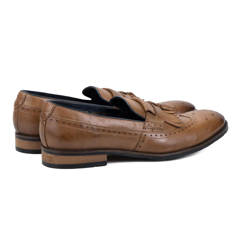 LIBERTY TAN LOAFERS | MENSTWEEDSUITS.COM