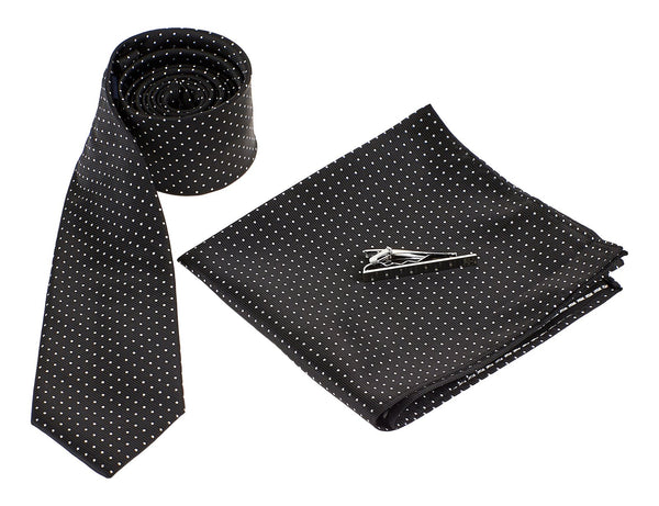 Black Tie White Dots - Mens Tweed Suits