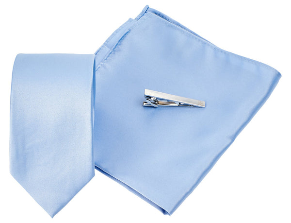 Sky Blue Tie Set - Mens Tweed Suits