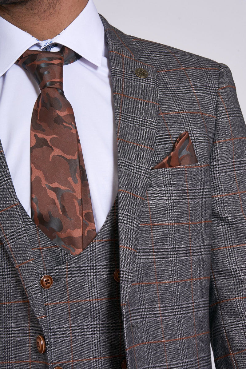Jenson Grey Check Blazer | Marc Darcy - Mens Tweed Suits