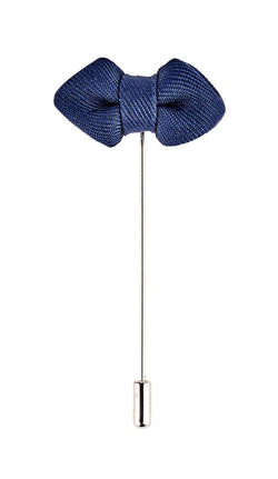 Blue Bow Tie Lapel Pin - Mens Tweed Suits